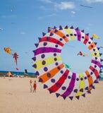 FUERTEVENTURA, ESPANHA, o 8 de novembro de 2014, festival do papagaio Foto de Stock