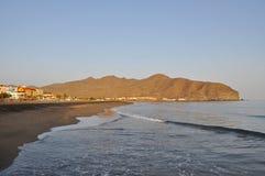 Fuerteventura Gran Tarajal beach 1. Beach in Gran Tarajal south of the island Fuerteventura (Canary Islands Royalty Free Stock Photography