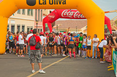 Fuerteventura half-marathon Stock Photos