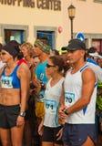 Fuerteventura half-marathon. CORRALEJO - NOVEMBER 03: Runners assemble before  the race at Fourth international Fuerteventura half-marathon 03 November, 2012 Royalty Free Stock Photo