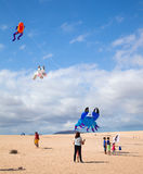FUERTEVENTURA, HISZPANIA, LISTOPAD 08 2014, kania festiwal Fotografia Stock