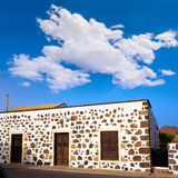 Fuerteventura house in Lajares Canary Islands Royalty Free Stock Photo