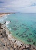 Fuerteventura, islas Canarias, Playa del Castillo Imagen de archivo