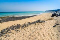 Fuerteventura Jandia sand beach stock photography