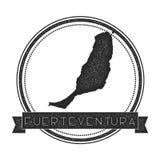 Fuerteventura-Kartenstempel Lizenzfreie Stockfotos