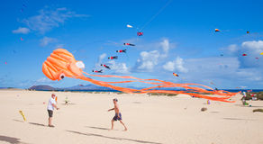 Fuerteventura kite festival Royalty Free Stock Photo