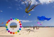 Fuerteventura Kite Festival Royalty Free Stock Photos
