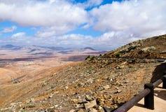 Fuerteventura krajobraz, wyspy kanaryjska, Hiszpania Obraz Stock