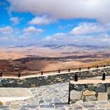 Fuerteventura kształtuje teren, wyspy kanaryjska, Hiszpania, kwadrat Fotografia Stock