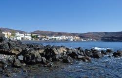 Fuerteventura La Lajita beach 1. Beach La lajita south of the island Fuerteventura (Canary Islands Stock Photos