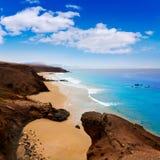 Fuerteventura La Pared beach at Canary Islands Stock Photos