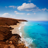Fuerteventura La Pared beach at Canary Islands Stock Images