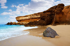 Fuerteventura La Pared beach at Canary Islands Stock Image