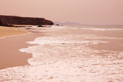 Fuerteventura La Pared beach at Canary Islands Royalty Free Stock Image