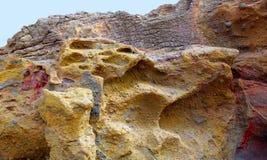 Fuerteventura La skalade stentexturer Arkivbild