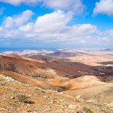 Fuerteventura landscape, Canary islands, Spain, square Royalty Free Stock Images