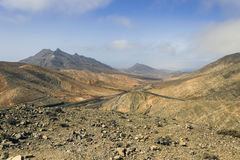Fuerteventura landskap Arkivbild