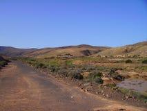 Fuerteventura - a las montañas Imagen de archivo libre de regalías