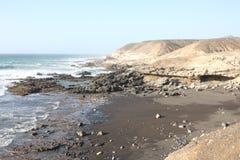 Fuerteventura Le Isole Canarie Vista dell'oceano s Fotografia Stock