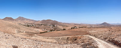 Fuerteventura - Look back from the GR131 to Cardon Stock Photos