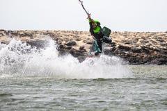 Fuerteventura - 3 luglio 2018: atleta nel corso di formazione al Co Fotografia Stock Libera da Diritti