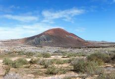 Fuerteventura - Montana Colorada Foto de archivo libre de regalías