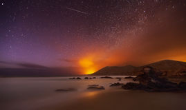 Fuerteventura Morro Jabe. Night Landscape of Fuerteventura, Spain Stock Photography