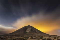 Fuerteventura Morro Jabe. Night Landscape of Fuerteventura, Spain Royalty Free Stock Photo