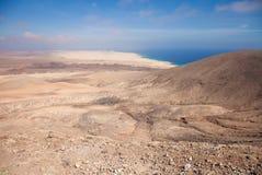 Fuerteventura, nord de vue de Montana Roja Images libres de droits