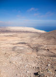 Fuerteventura, nord de vue de Montana Roja Photo stock