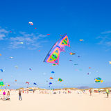 FUERTEVENTURA - NOVEMBER 13, 2011: KITE FESTIVAL Stock Images