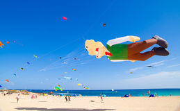 FUERTEVENTURA - NOVEMBER 13, 2011: KITE FESTIVAL Stock Photo