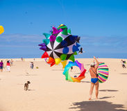 FUERTEVENTURA - NOVEMBER 13, 2011: KITE FESTIVAL Stock Photos