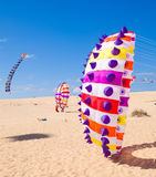 FUERTEVENTURA - NOVEMBER 13, 2011: KITE FESTIVAL Royalty Free Stock Photos