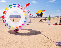 FUERTEVENTURA - NOVEMBER 13: Kite festival Royalty Free Stock Photography