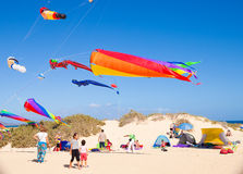 FUERTEVENTURA - NOVEMBER 13: Kite festival Stock Images