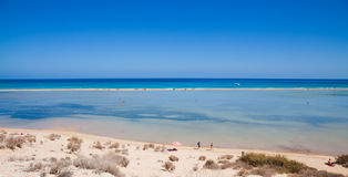 Fuerteventura, Playa De Sotavento. On Jandia peninsula royalty free stock photography
