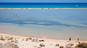 Fuerteventura, Playa De Sotavento. On Jandia peninsula stock photography