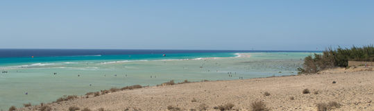 Fuerteventura, Playa De Sotavento Royalty Free Stock Images