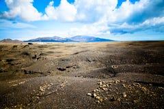 Fuerteventura_Puerto DE La Cruz Stone Woestijn Stock Afbeeldingen