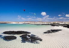 Fuerteventura, rippled sand Stock Photos
