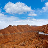 Fuerteventura Risco las Penas at Canary Islands Stock Image