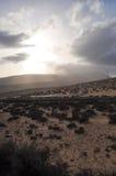 Fuerteventura road 2. Car road on the island Fuerteventura (Canary Islands Stock Images