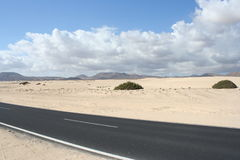 Fuerteventura Roads Royalty Free Stock Images