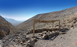 Fuerteventura - Roofed picnic area Stock Photo