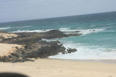 Fuerteventura Se diriger à Corralejo Images libres de droits