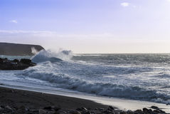 Fuerteventura Seascape Royaltyfri Foto