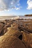 Fuerteventura seglar utmed kusten på skalad La Royaltyfri Bild