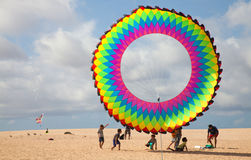 FUERTEVENTURA, SPAIN, NOVEMBER 08 2014, Kite Festival Royalty Free Stock Photography
