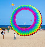 FUERTEVENTURA, SPAIN, NOVEMBER 08 2014, Kite Festival Royalty Free Stock Images